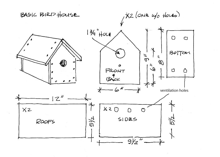 Build a simple birdhouse it 39 s easy for Easy house plans to build