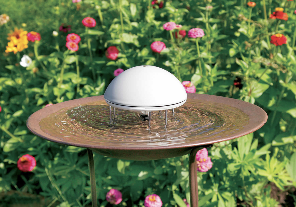 Image of a Water Wiggler, which makes water in birdbath wiggle.